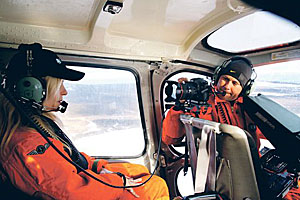 IFAW filming search for sealers - photo by James McLeod - The Telegram